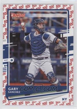 2020 Panini Donruss - [Base] - One Hundred #74 - Gary Sanchez /100