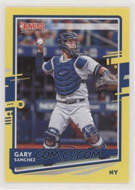 2020 Panini Donruss - [Base] - Yellow #74 - Gary Sanchez