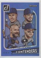 Anthony Rizzo, David Ross, Javier Baez, Kris Bryant #/99
