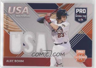 2020 Panini Elite Extra Edition - USA Baseball Material - Orange #USAM-AB - Alec Bohm /199