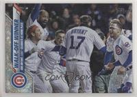 Checklist - Walk-Off Winner (Kris Bryant, Cubs Celebrate at Home Plate) #/264
