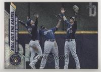 Checklist - Roll Out The Barrel (Brewers Outfield Celebrates) #/264