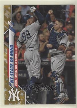 2020 Topps - [Base] - Gold Star #591 - Checklist - NY State of Mind (Judge, Sanchez Rise Up During ALCS)