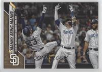 Checklist - Manny Being Manny (Tatis Jr. and Machado Celebrate Home Run) #/2,020