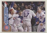 Checklist - Walk-Off Winner (Kris Bryant, Cubs Celebrate at Home Plate) #/2,020