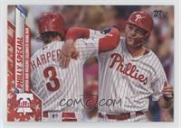 Checklist - Braves(TM) New World (Harper and Hoskins Celebrate Home Run) #/76