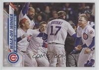 Checklist - Walk-Off Winner (Kris Bryant, Cubs Celebrate at Home Plate) #/99
