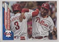 Checklist - Philly Special (Harper and Hoskins Celebrate Home Run) #/299