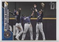 Checklist - Roll Out The Barrel (Brewers Outfield Celebrates) #/299