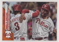 Checklist - Philly Special (Harper and Hoskins Celebrate Home Run) #/99