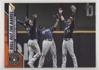 Checklist - Roll Out The Barrel (Brewers Outfield Celebrates) #/99