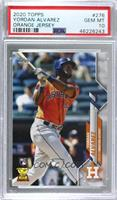 Base - Yordan Alvarez (Orange Jersey) [PSA 10 GEM MT]