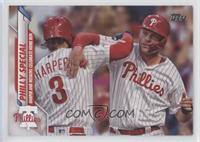 Checklist - Philly Special (Harper and Hoskins Celebrate Home Run) [EX to&…