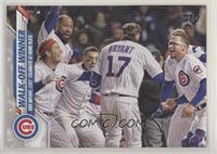Checklist - Walk-Off Winner (Kris Bryant, Cubs Celebrate at Home Plate)