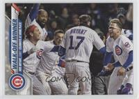 Checklist - Walk-Off Winner (Kris Bryant, Cubs Celebrate at Home Plate)