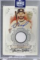 Jose Altuve (2018 Ginter Full Size Relics B) [Buy Back] #/1