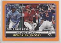 League Leaders - Alex Bregman, Mike Trout, Jorge Soler
