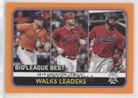 League Leaders - Carlos Santana, Mike Trout, Alex Bregman