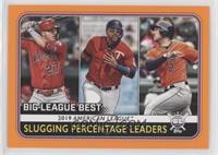 League Leaders - Alex Bregman, Nelson Cruz, Mike Trout