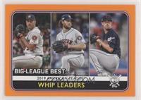 League Leaders - Shane Bieber, Justin Verlander, Gerrit Cole