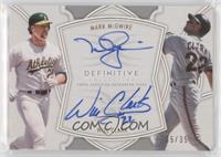 Mark McGwire, Will Clark #/35
