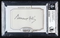 Warren Giles [BGSAuthentic] #/1