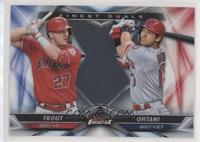 Shohei Ohtani, Mike Trout [EX to NM]