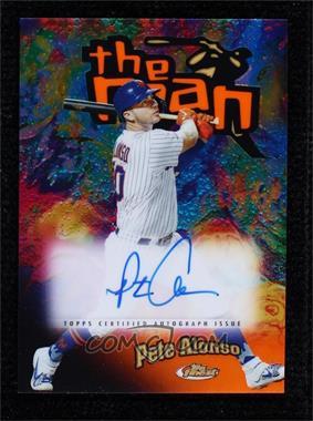 2020 Topps Finest - Finest The Man Autographs - Orange Refractor #FTMA-PA - Pete Alonso /25