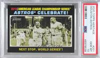 AL Playoffs - Astros Celebrate! [PSA 10 GEM MT]