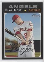 Silver Team Name Variation - Mike Trout