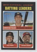 League Leaders - Anthony Rendon, Christian Yelich, Ketel Marte