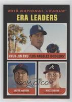 League Leaders - Mike Soroka, Jacob deGrom, Hyun-Jin Ryu