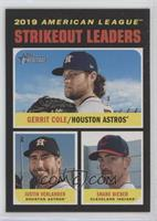 League Leaders - Justin Verlander, Shane Bieber, Gerrit Cole