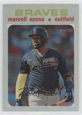 2020 Topps Heritage High Number - [Base] - Chrome Refractor #THC-723 - Marcell Ozuna /571