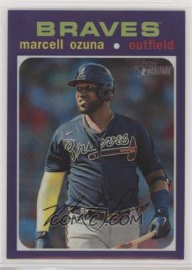 2020 Topps Heritage High Number - [Base] - Hot Box Chrome Refractor #THC-723 - Marcell Ozuna