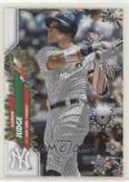 Short Print Variations - Aaron Judge (Candy Cane Arm Band & Sleeve)