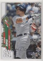 Rare Short Print Variations - Aaron Judge (Candy Cane Left Arm Sleeve)