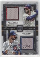 Bryce Harper, Kris Bryant #/50