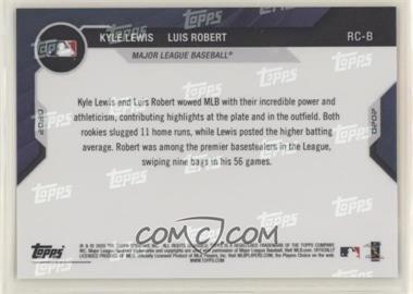 2020 Topps Now - All-Star Rookie Team Bonus #RC-B - Kyle Lewis, Luis Robert - Courtesy of COMC.com