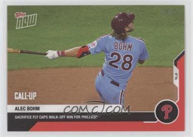 2020 Topps Now - [Base] - Red #207 - Alec Bohm /10