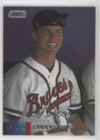 Base - Chipper Jones (White Jersey, Smiling)