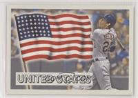 1956 Topps Flags of the World Design - Christian Yelich #/911