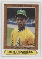 1985 Topps Woolworth All-Time Record Holders Design - Rickey Henderson #/611