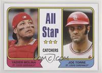 1974 Topps All Star Catchers Design - Yadier Molina, Joe Torre #/406