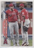 Veteran Combos - Mike Trout, Justin Upton (Angels Brightest Stars Enjoy Victory)