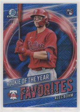 2021 Bowman - Rookie of the Year Favorites - Blue Mojo Refractor #RRY-AB - Alec Bohm /150