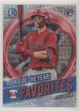 2021 Bowman - Rookie of the Year Favorites - Mojo Refractor #RRY-AB - Alec Bohm