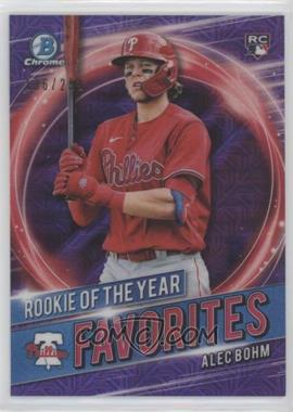 2021 Bowman - Rookie of the Year Favorites - Purple Mojo Refractor #RRY-AB - Alec Bohm /250