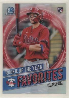 2021 Bowman - Rookie of the Year Favorites #RRY-AB - Alec Bohm