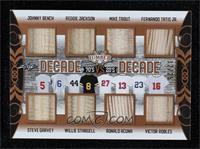 Johnny Bench, Steve Garvey, Reggie Jackson, Willie Stargell, Mike Trout, Ronald…
